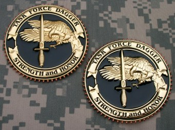 TF Dagger Commemorative Challenge Coins - Version 2 & 3: Obverse