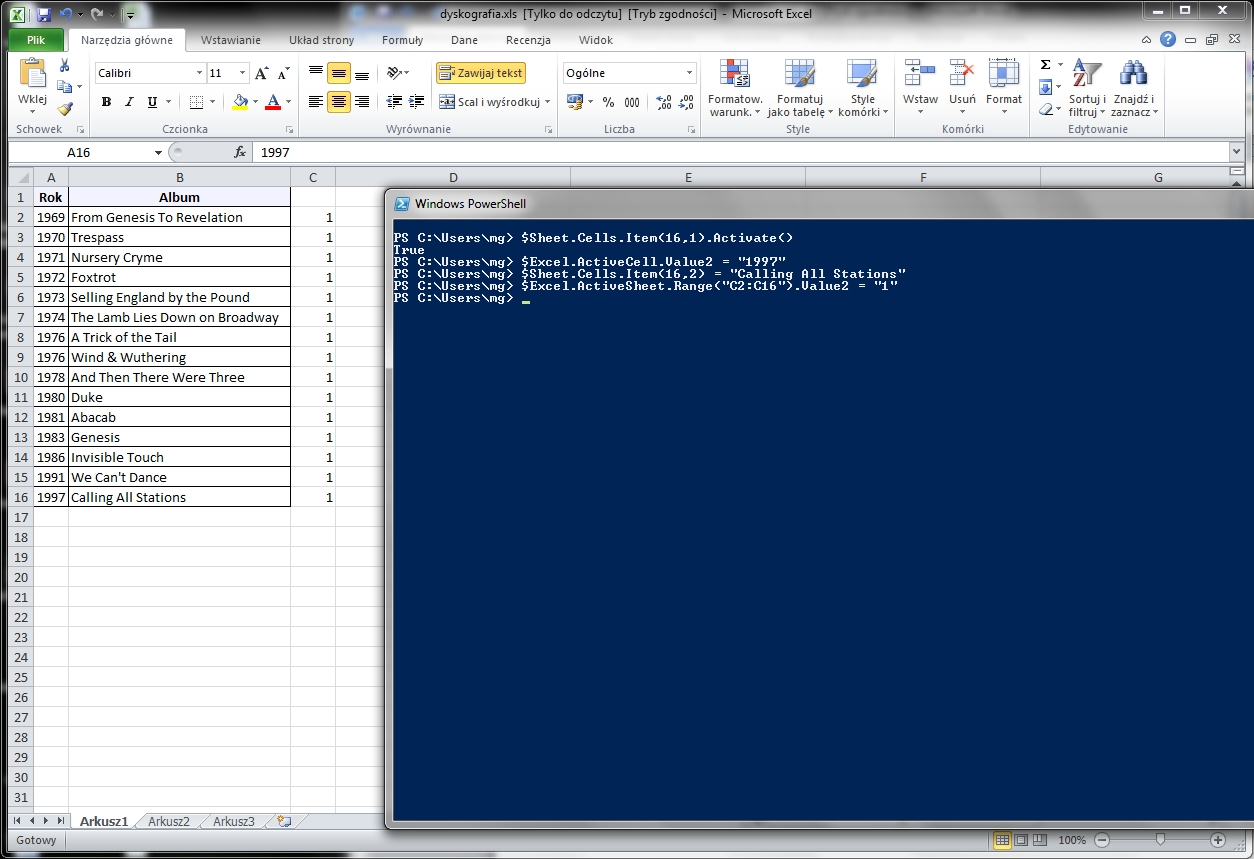 Powershell And Excel Lication Commandlinegeeks