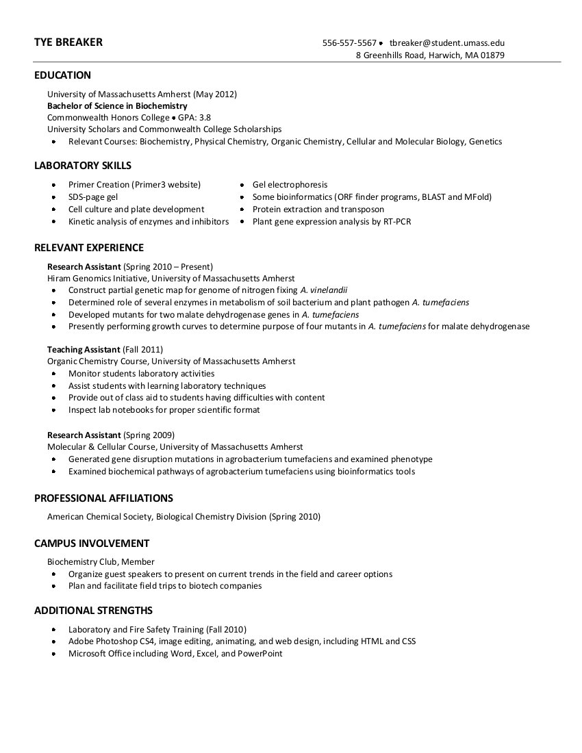 View Resume Examples Examples of Resumes