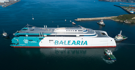 Botadura del primer fast ferry del mundo a gas natural