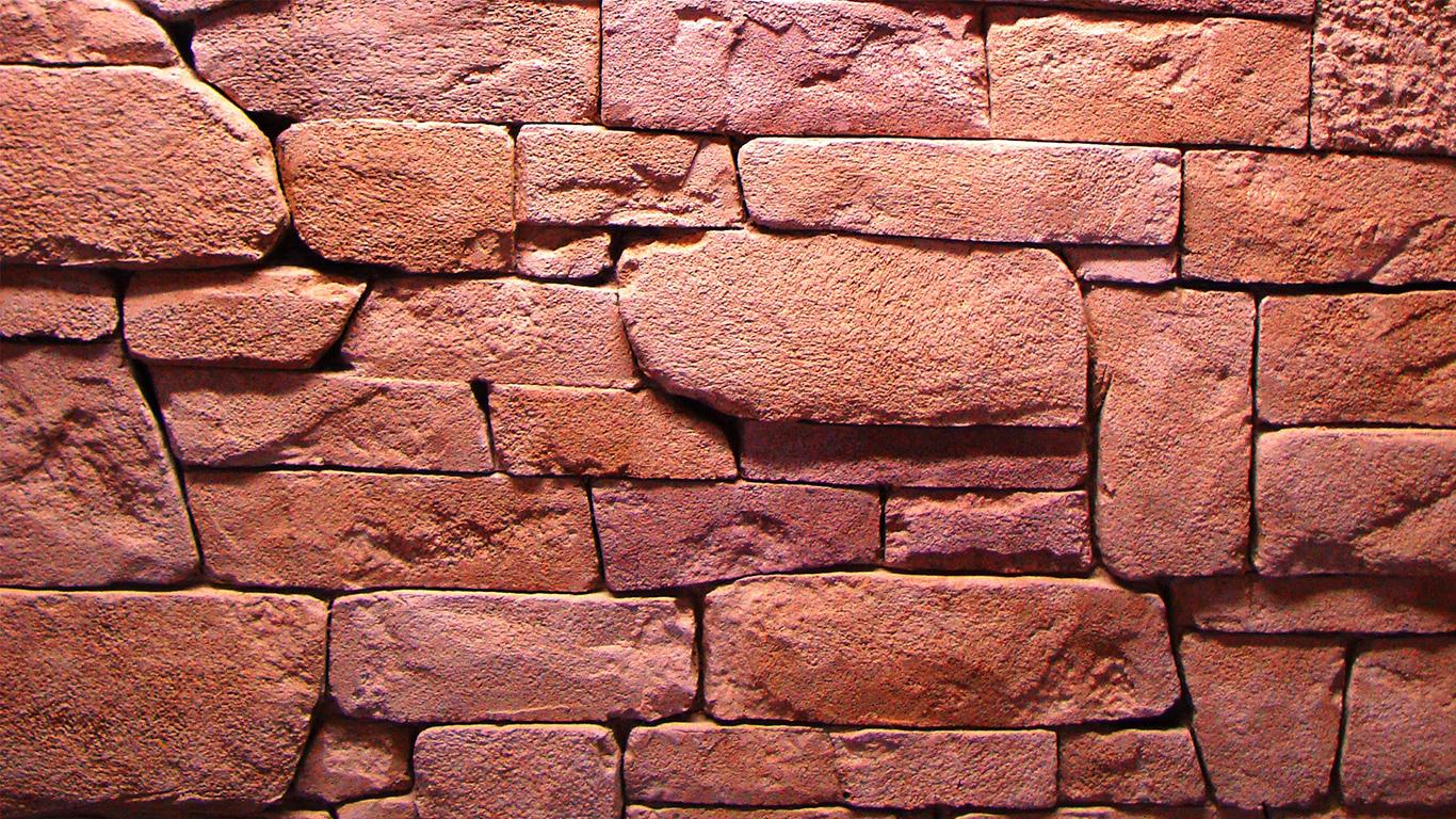 Fausse PIERRE SECHE rose pierre de parement