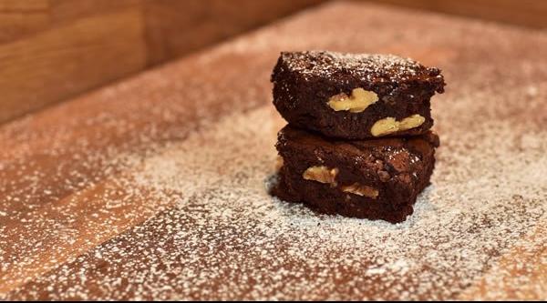 Brownies con café y nueces 1