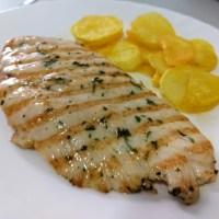 Pechuga de pollo marinada a la plancha
