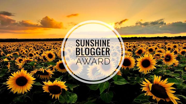 Sunshine Blogger Award 2019 1