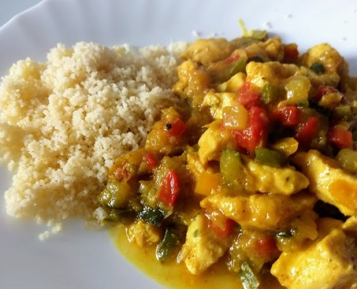 curcuma en el pollo al curry
