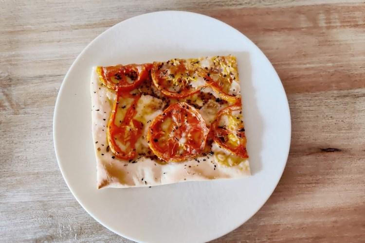 Tarta de tomate y mostaza con masa de aceite de oliva 1