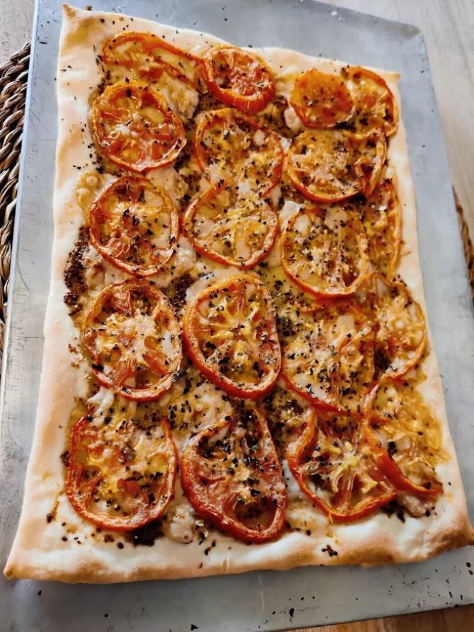 Tarta tomate entera