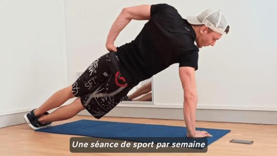 Une séance de sport par semaine