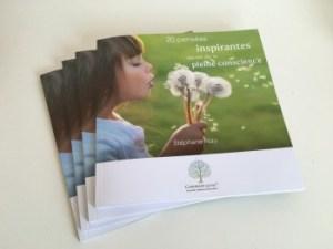 """Livre """"20 pensées inspirantes..."""""""