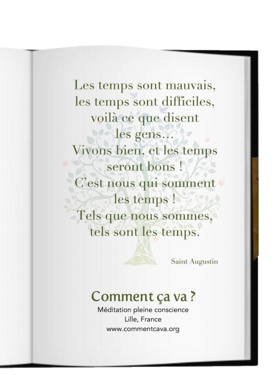 temps bonheur meditation pleine conscience saint augustin