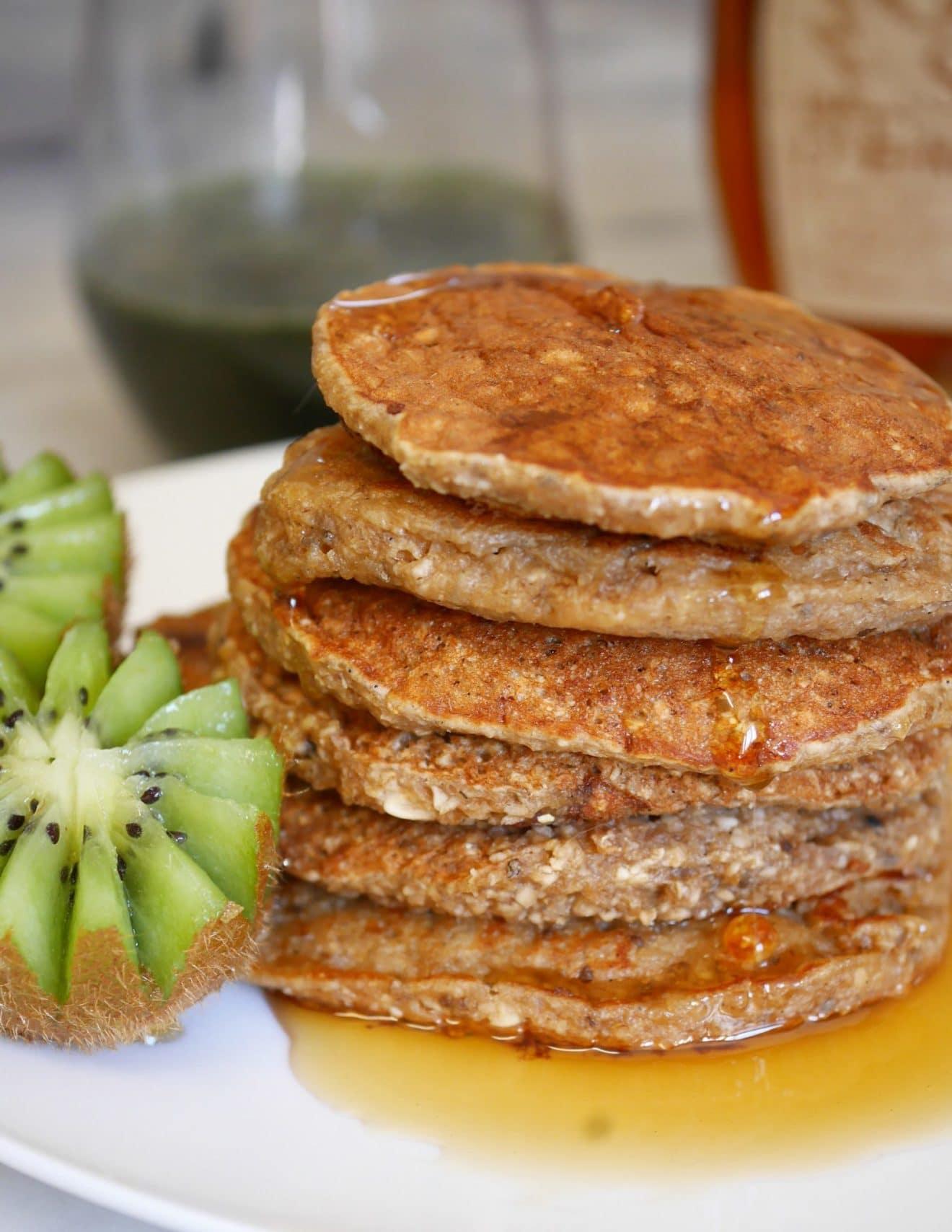 Recette Pancakes Banane Avoine : recette, pancakes, banane, avoine, Pancakes, Healthy, Vegan, Banane, Comment, Changé