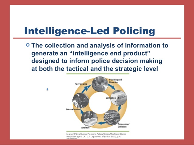 "the intelligence and definition of led policing This is a hidden slide the future ""intelligence-led policing is crime fighting that is guided by effective intelligence gathering and analysis—and it has the ."