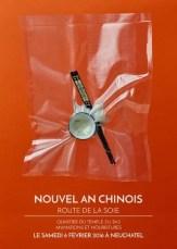 Affiche Nouvel-An Chinois à Neuchâtel, Route de la Soie, retrouvez votre stand Frangipanier et son artisanat authentique et équitable des villages du coeur de l'Asie du Sud-Est.