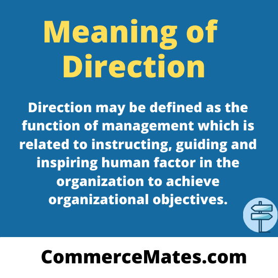 Meaning of Direction