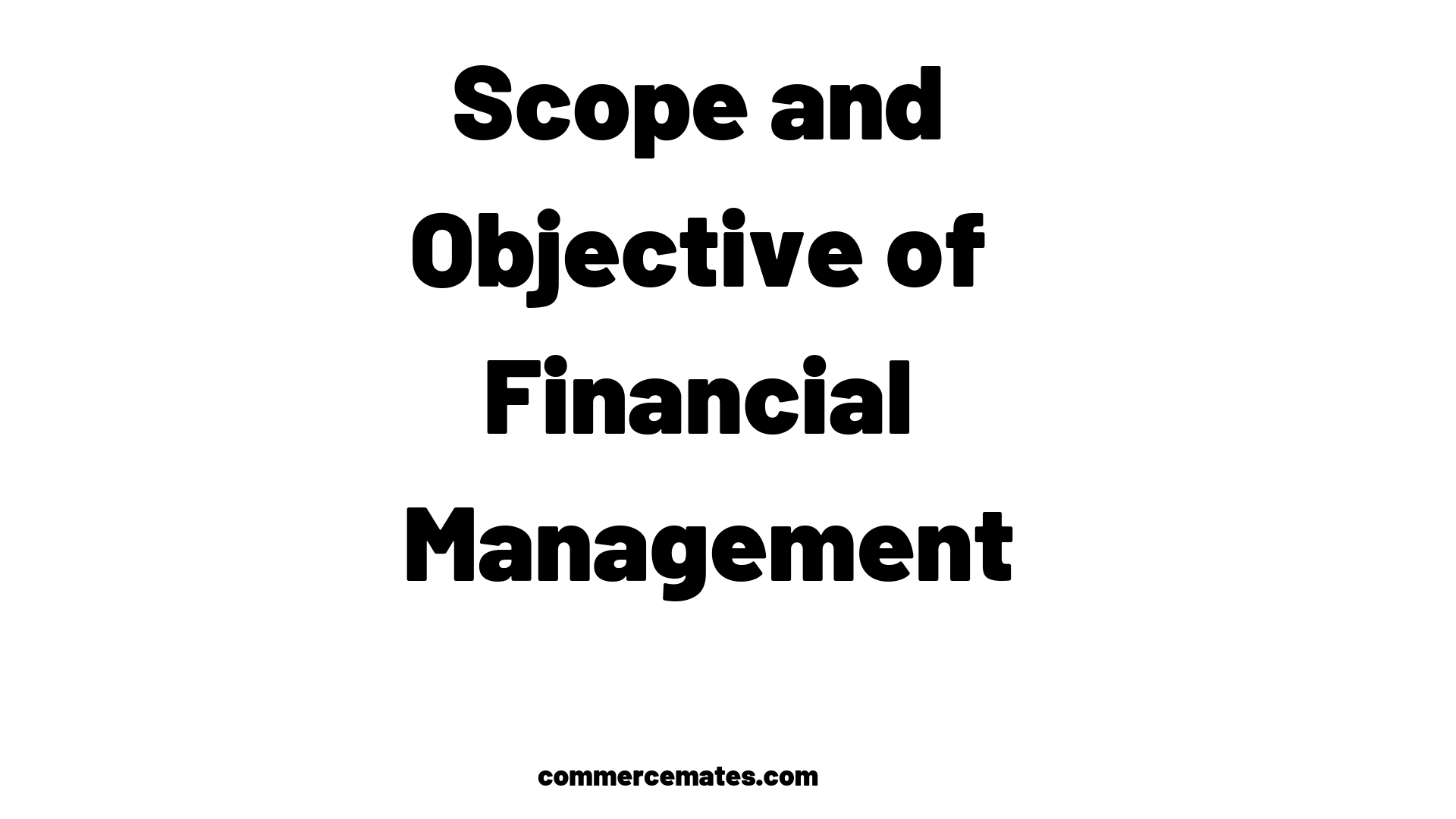 What is Finance Management System? Scope and Objective of