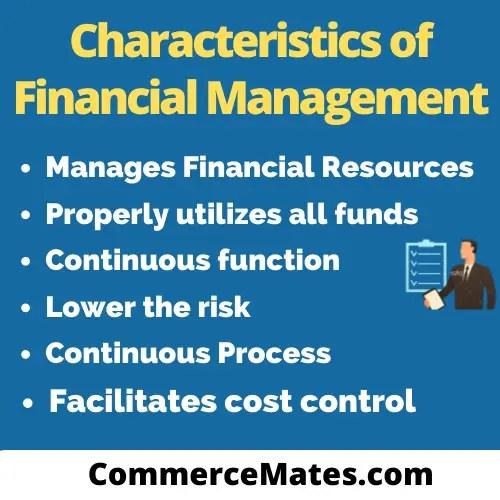 Characteristics of Financial Management