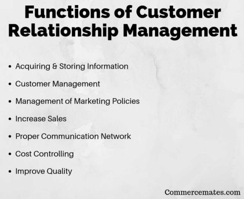 Functions of Customer Relationship Management