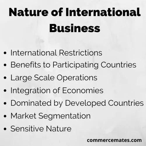 Nature of International Business