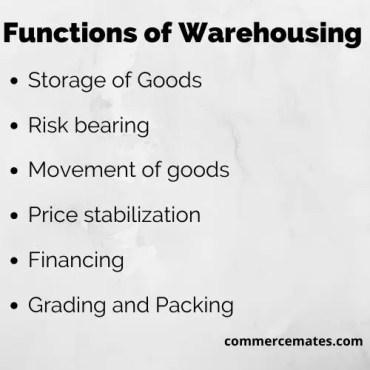 Functions of Warehousing