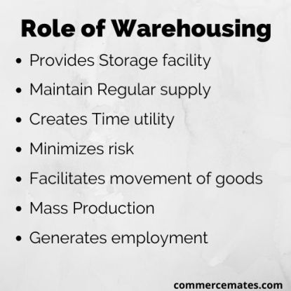 Role of Warehousing