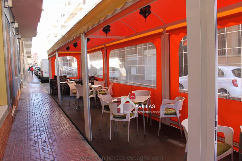 A LOUER Torrevieja bar Restaurant  Fonds de Commerce Espagne AVILLAS a vendre acheter un ou