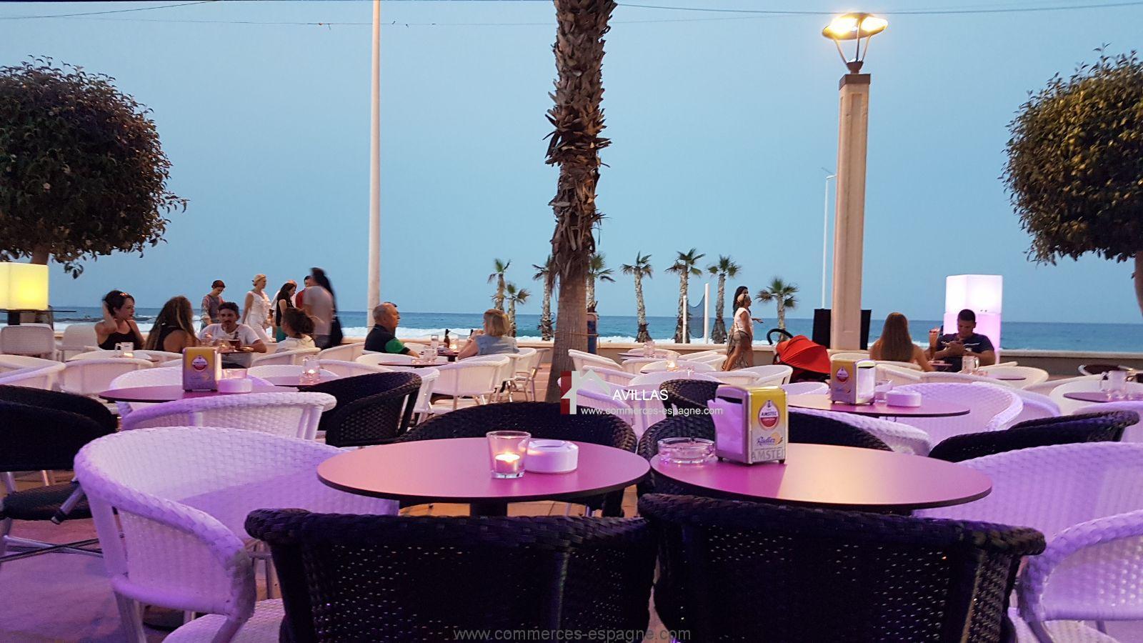 Alicante Bar Cocktails Lounge Face La Plage Fonds