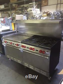 wolf regency 6 burner gas cooktop w mobile
