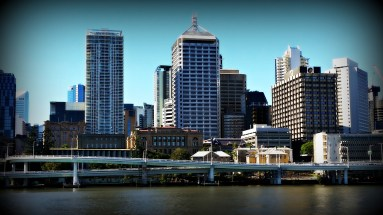 city buildings in commercial real estate