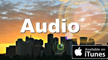 Commercial real estate audio recording – city at sunset