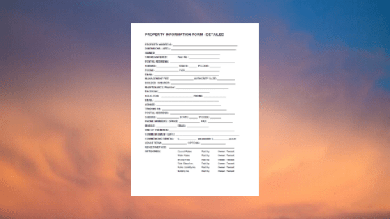 commercial property information form