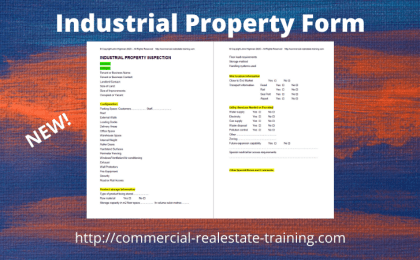 industrial property inspection form template