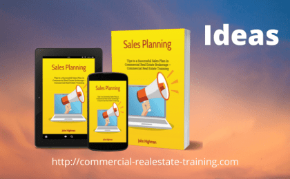 ideas in sales planning in commercial real estate