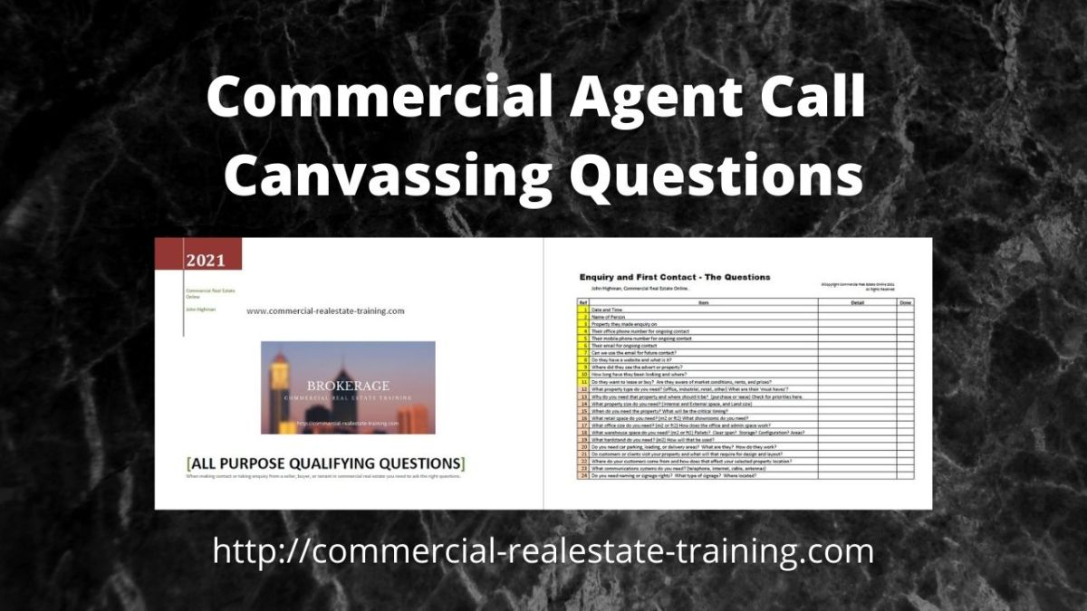 cold call questions for commercial real estate