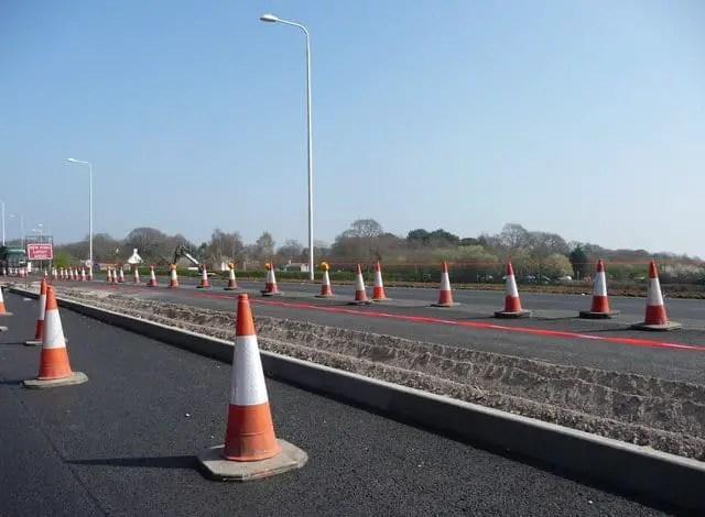 bc class 3 license road test traffic cones