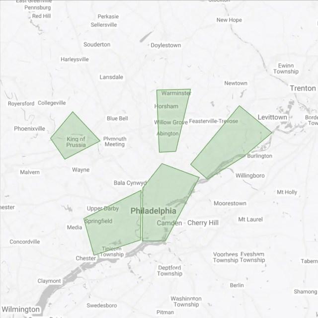 Busiest Areas Philadelphia