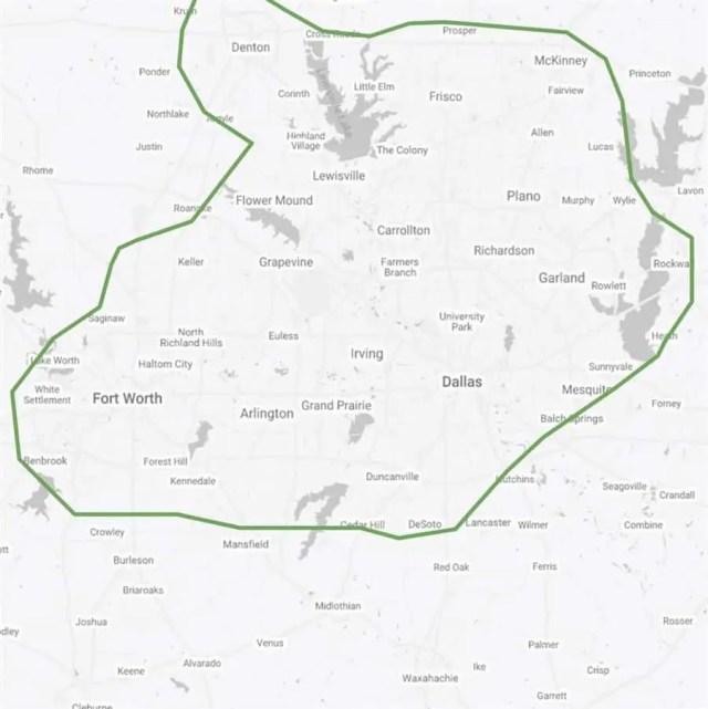 Delivery Area Dallas