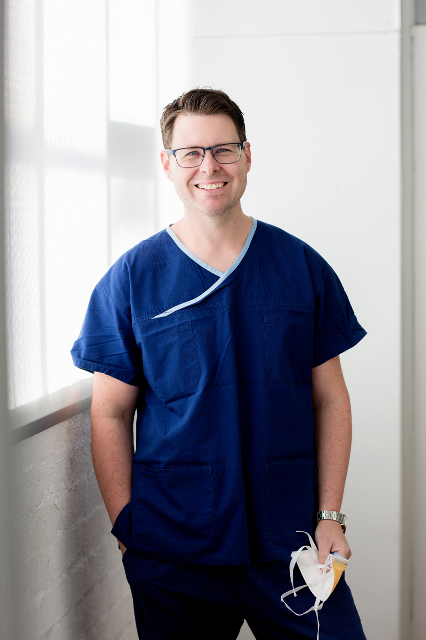 medical photography of Surgeon in scrubs