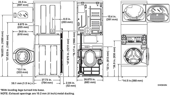 Speed Queen Commercial Stack Washer Dryer