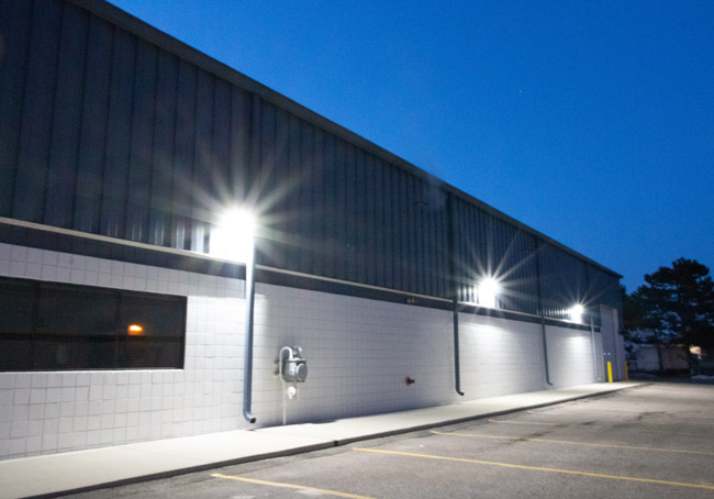 outdoor security lighting commercial