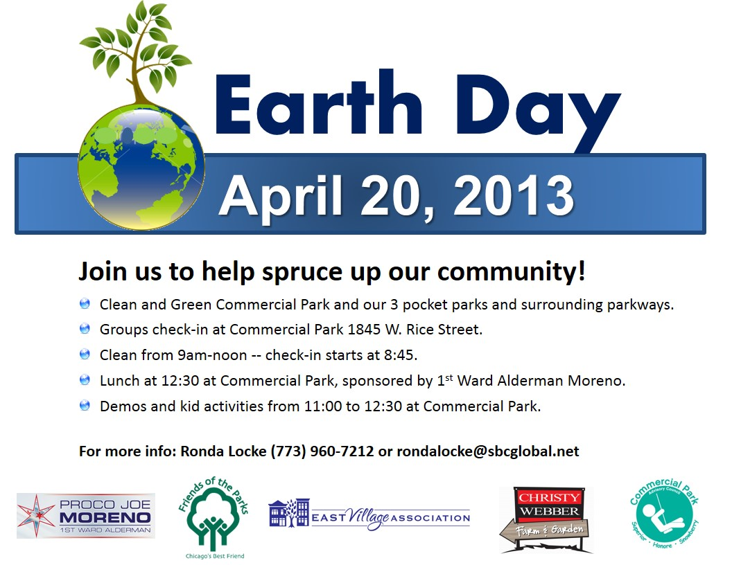 Earth Day At Commercial Park April 20
