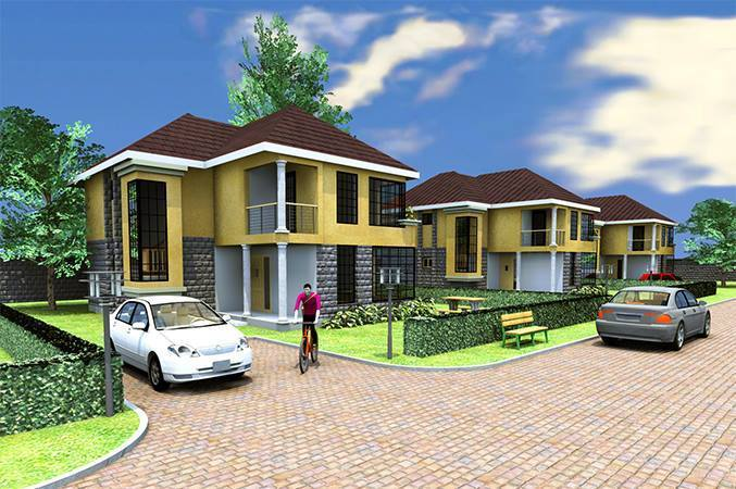 Stupendous 4 Bedroom Sq Angelville Villas For Sale Kitengela Home Interior And Landscaping Ologienasavecom
