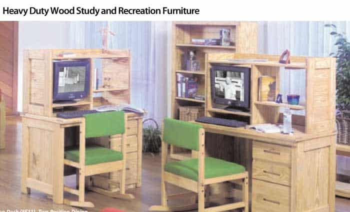 Heavy Duty Wood Study and Recreation Furniture