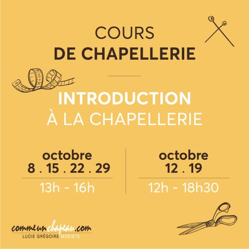 Cours de chapellerie - Introduction à la chapellerie
