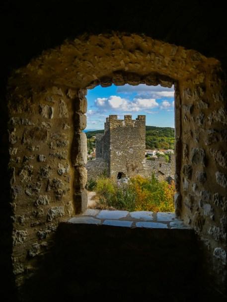 Vue depuis la pièce des domestiques du château