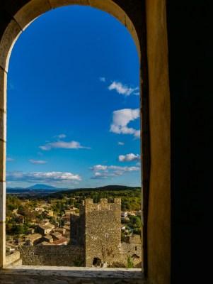 Vue panoramique jusqu'au Mont Ventoux