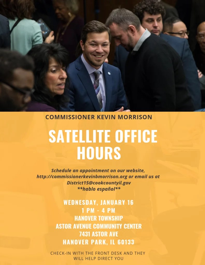 Office Hours on January 16 at Astor Avenue Community Center