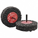 Clean and Strip Cup Wheel, 4 in Diameter, 1/2 in Thickness, Silicon Carbide, Extra Coarse Grit - Also available in(1 in, 3 in, 4 in, 6 in, 7 in, 12 in Diameter, Thickness -1/64 in, 1/2 in, 1 in - various materials))