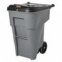 65 gal Rectangular Confidential Waste Container, Plastic, Gray - Also available in(Trash Container Capacity 23 gal, 65 gal, 95 gal)