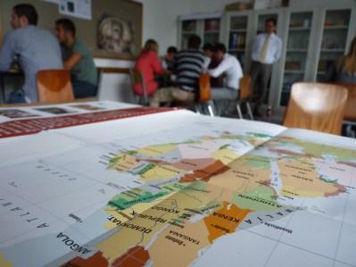 Gesüdete Weltkarte