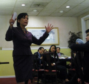 Congresswoman Judy Chu shares her experience as an Asian American community and political leader at C-100's Leadership Roundtable Dinner